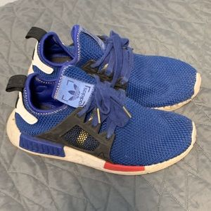 BLUE ADIDAS NMD SHOES